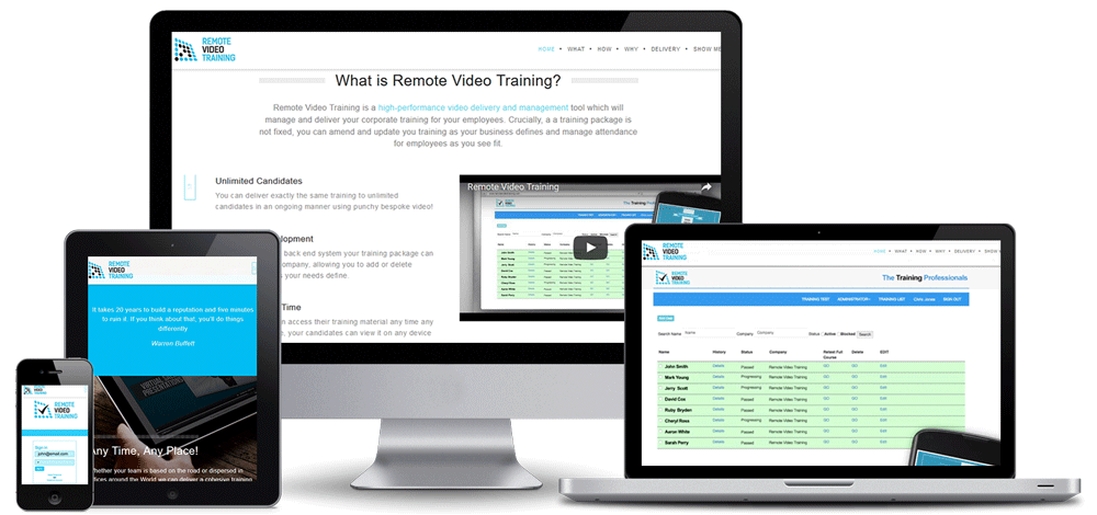 Remote Video training